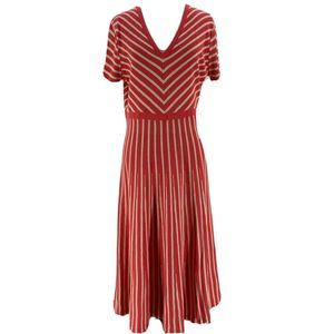 Boden Red Coral Striped Amelia Sweater Dress 14R